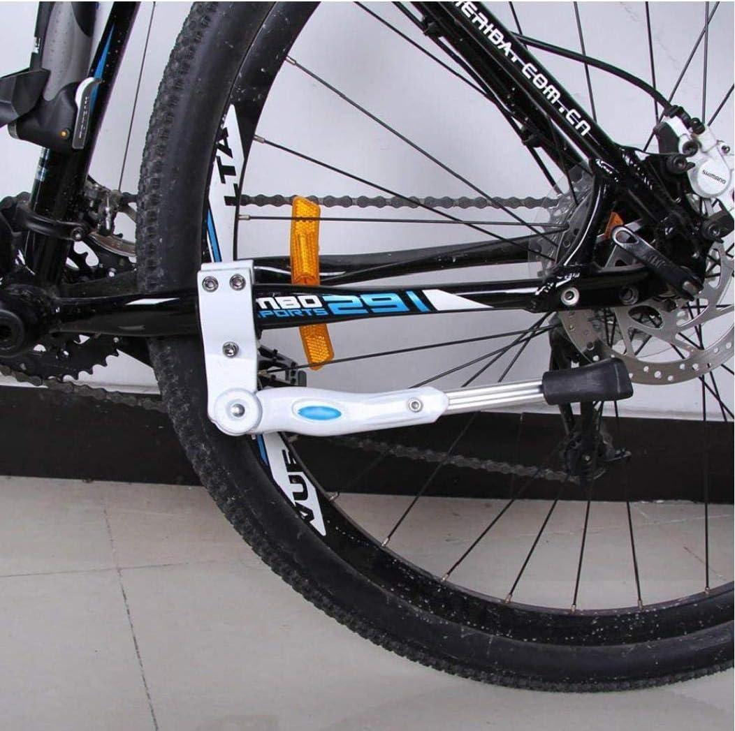 DierCosy Bicicletas Pata De Cabra Blanca con Altura Ajustable Aleaci/ón De Aluminio De La Bici De La Bicicleta Se Coloca De Un Lado para Soporte del Retroceso