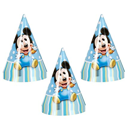 Disney Mickey Mouse 1st Birthday Party Cone Hats