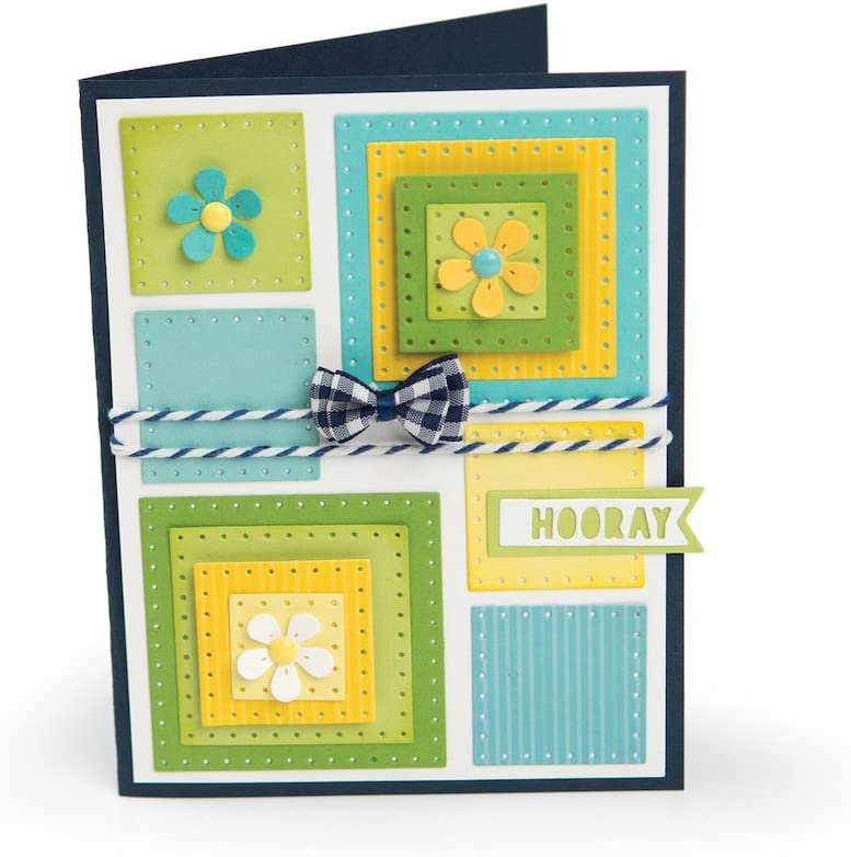 FRAMELITS DOTTED SQUARES 561841 SIZZIX