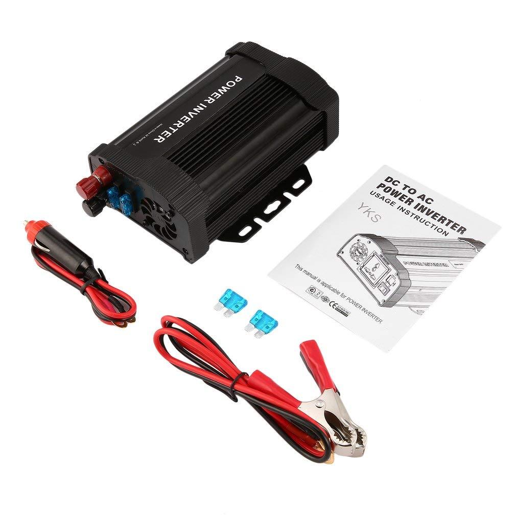 Convertidor de potencia de cargador 1000 W inversor CC 12 V a CA 110 V modificado
