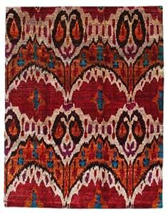 Alfombra sari pura de seda 238x305 alfombra moderna for Alfombras comedor amazon