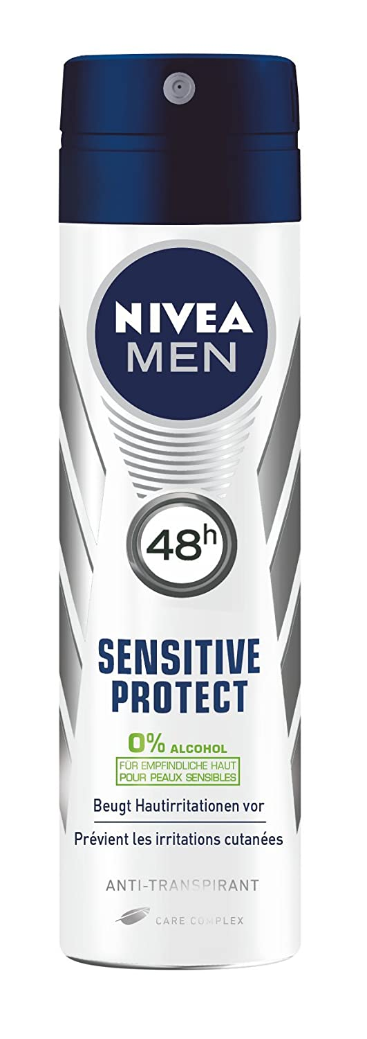 Nivea Men Deo Sensitive Protect Antitranspirant Spray, 4er Pack (4 x 150 ml) 82980-1