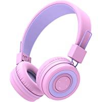 iClever BTH02 Kids Headphones, Kids Bluetooth Headphones with MIC, 22H Playtime, Bluetooth 5.0 & Stereo Sound, Foldable…