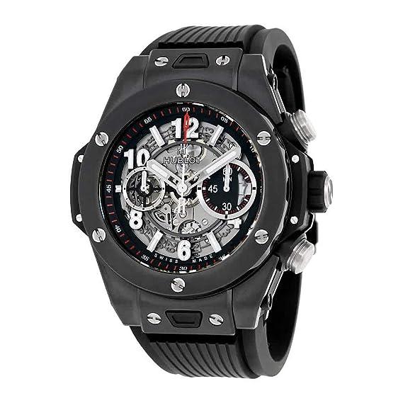 newest 54d71 ec84a Amazon | [ウブロ]HUBLOT 腕時計 ビッグバン ウニコ ブラック ...