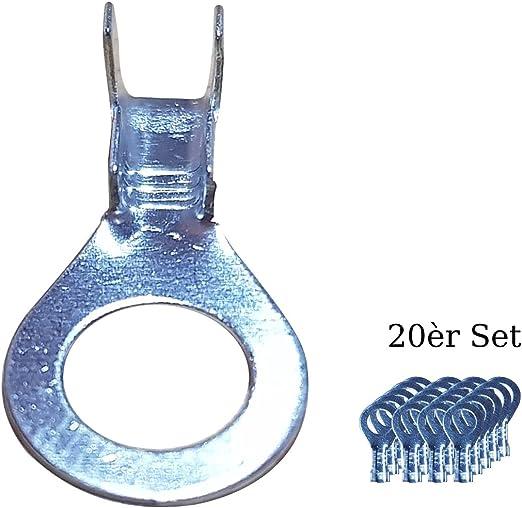 10 Stück Krallenkabelschuhe Ringform Ring-Krallen 4-6mm² M6 Messing verzinnt