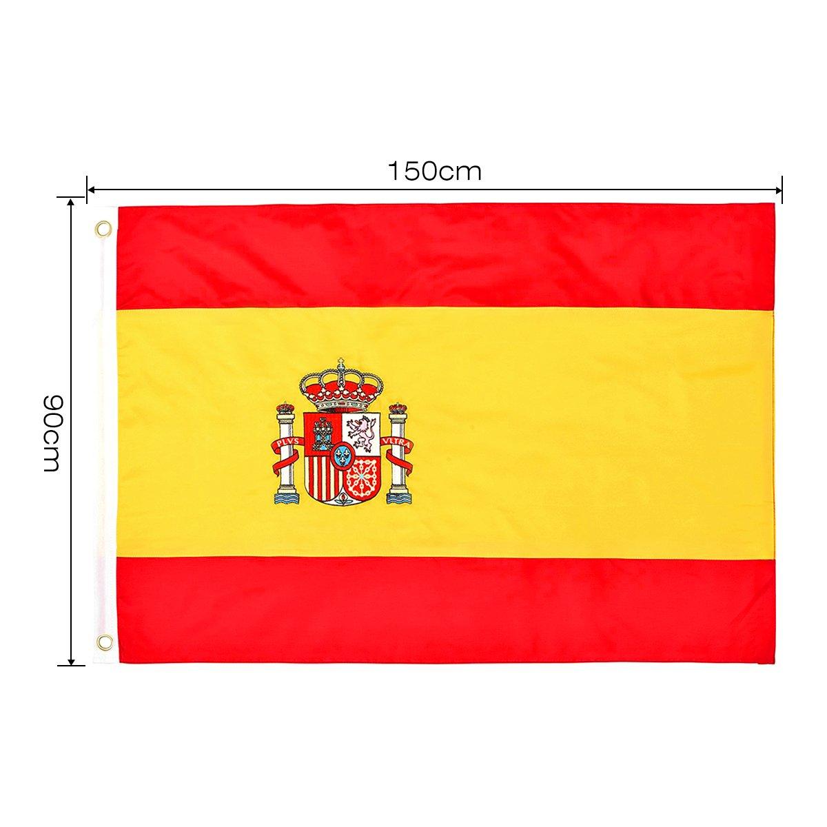 Bandera de España 150×90cm para La Decoración del Lugar Parezca Más Juvenil de Bandera Española: Amazon.es: Juguetes y juegos