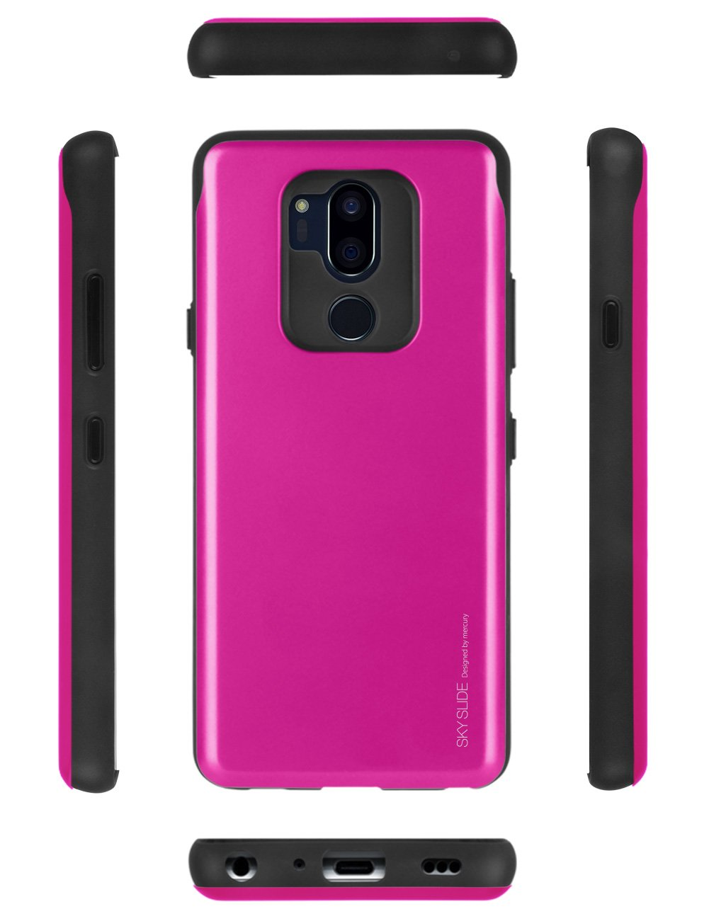 Lg G7 Thinq Case Mercury Sliding Card Goospery Iphone 7 Sky Slide Bumper Lime Holder Protective Dual Layer Tpu Pc Cover With Slot Wallet For