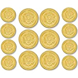 METAL BLAZER BUTTONS Brand GOLD HERALDIC SHIELD 14-Button (Double Breasted) Sport Coat BLAZER BUTTON SET ~ Exclusively Sold by MetalBlazerButtons.com