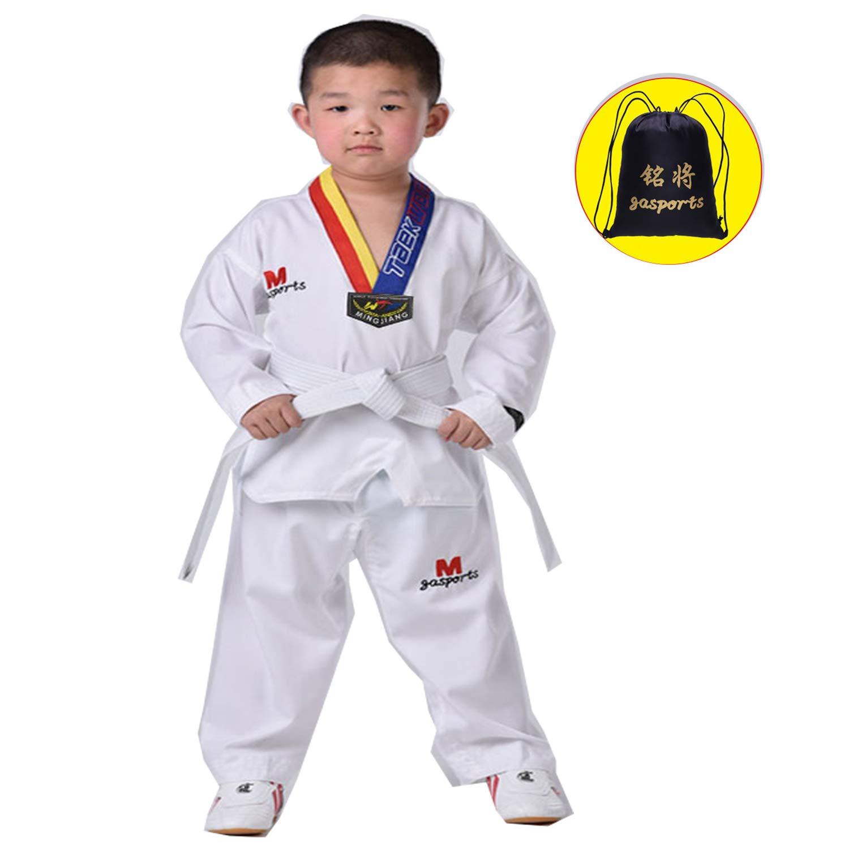 WTUGAIOHG Traje De Taekwondo para Niños Adultos, AlgodÓN PoliÉSter ...