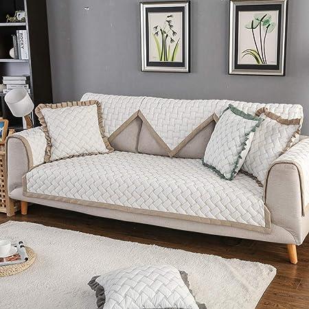 TAYIBO Funda Sofa 3 plazas Cubre,Cojín de sofá Bordado de algodón Lavado, Funda de cojín de sofá-marrón_90 * 180: Amazon.es: Hogar