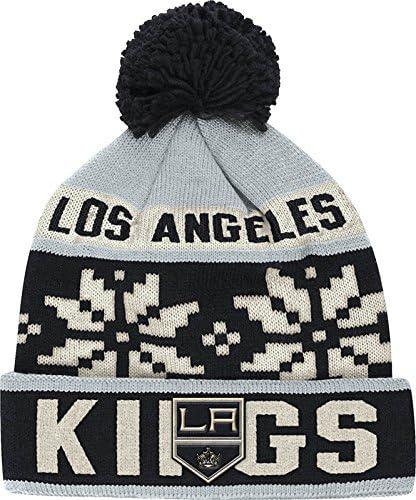 NHL Mens Face-Off Winter Cuffed Pom Knit Beanie