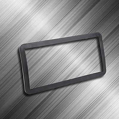 Pilot Automotive WL170-E1 Stretchable Flexible Urethane Silicone Rubber Black License Plate Frame Holder Trim for Cars, SUV and Trucks - Soft Protection for Bumper and License Plates: Automotive
