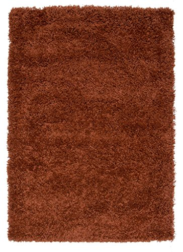 Soft Non Shed Thick Plain Easy Clean Shaggy Area Rugs Ontario - 16 Colours and 14 Sizes Available (Terra 3'7