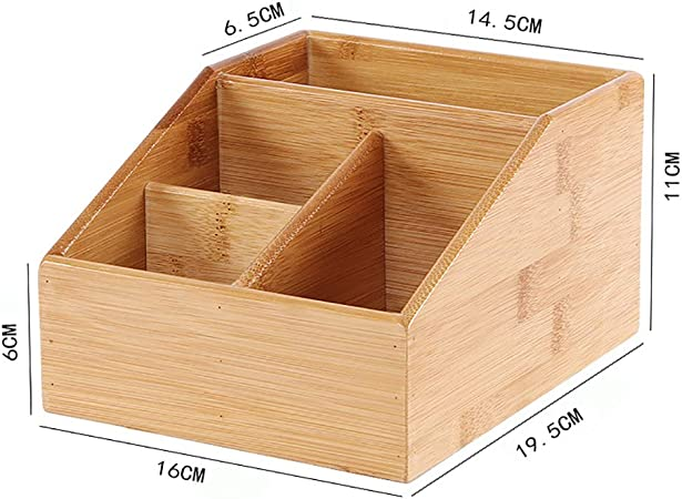 BeesClover - Caja de pañuelos multifunción, innovadora Mesa de bambú para café, Control Remoto, Caja de Almacenamiento para Papel higiénico de baño para Regalo en casa: Amazon.es: Hogar