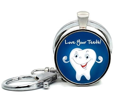 Amazon.com: Love tus dientes dentista higienista o llavero ...