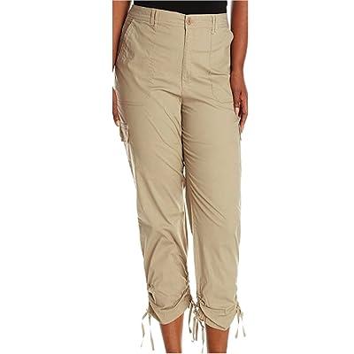 Gloria Vanderbilt Ladies' Zoey Cropped Cargo Pant-tan, 8 at Women's Clothing store