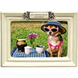 grasslands road my grandchild is a dog ceramic frame antique white