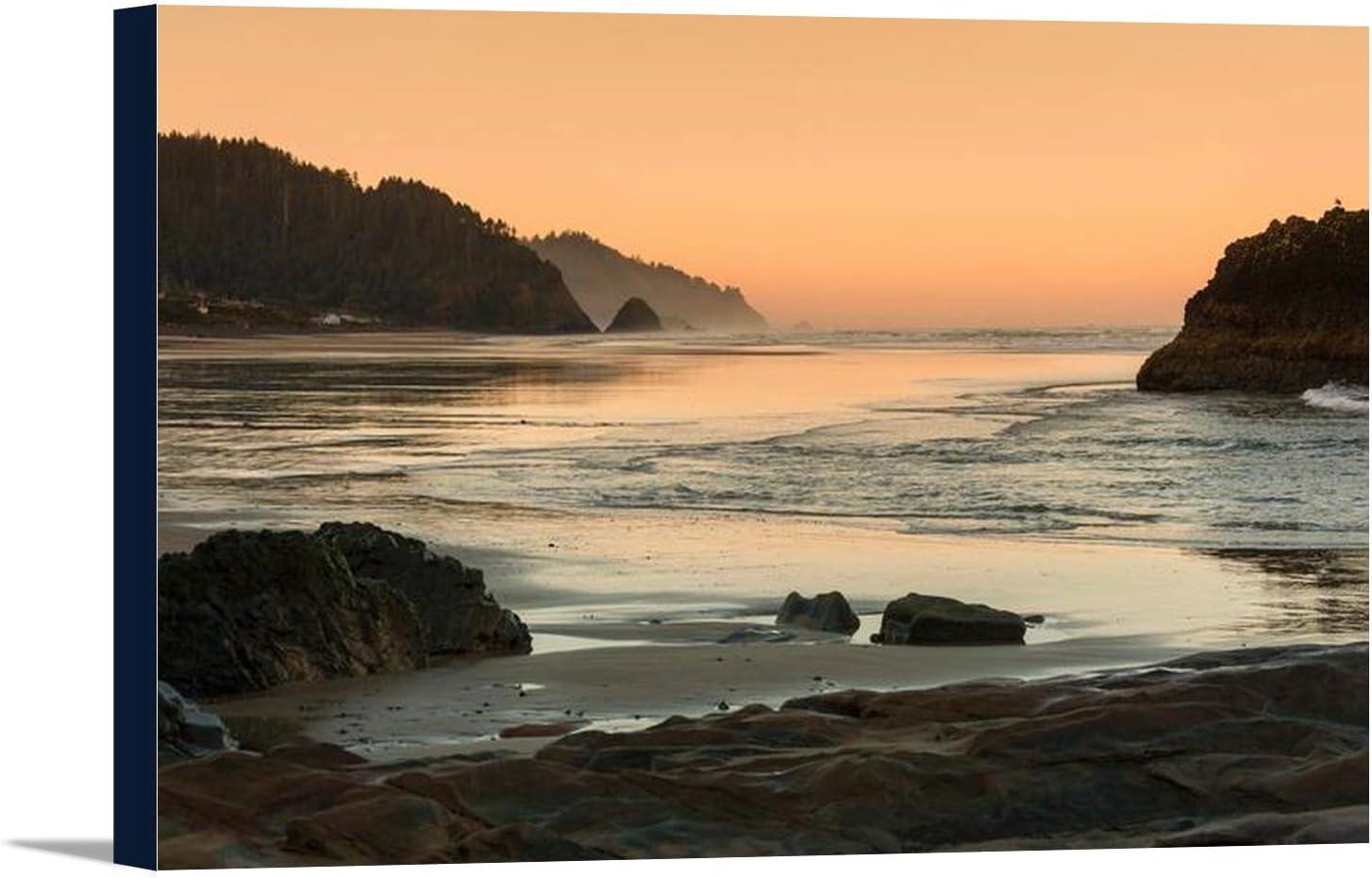 Beach Sunset Oregon Coast Canvas Print  Ready to Hang Wall Art Decor Cotton