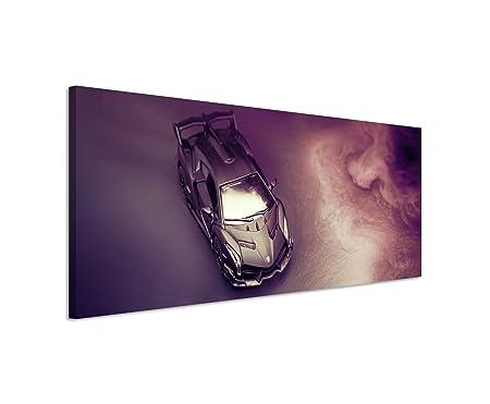 120x40 Cm Panorama Canvas Picture Lamborghini Veneno Lp750 Car Audio