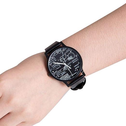 Sports Creativo Reloj de Pulsera matemáticas y Figure geométrica diseño de Placa de Reloj Reloj occasionnelle Reloj Pulsera en PU Pulsera de Cuarzo para ...
