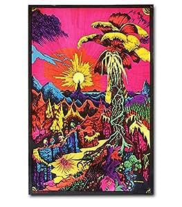 Lost Horizon Blacklight Poster