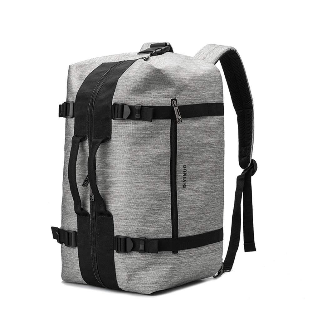 旅行バッグ旅行短距離中小企業の男性と女性のハンドバッグのショルダーバッグ大容量の防水荷物袋  gray B07LD5L3KD