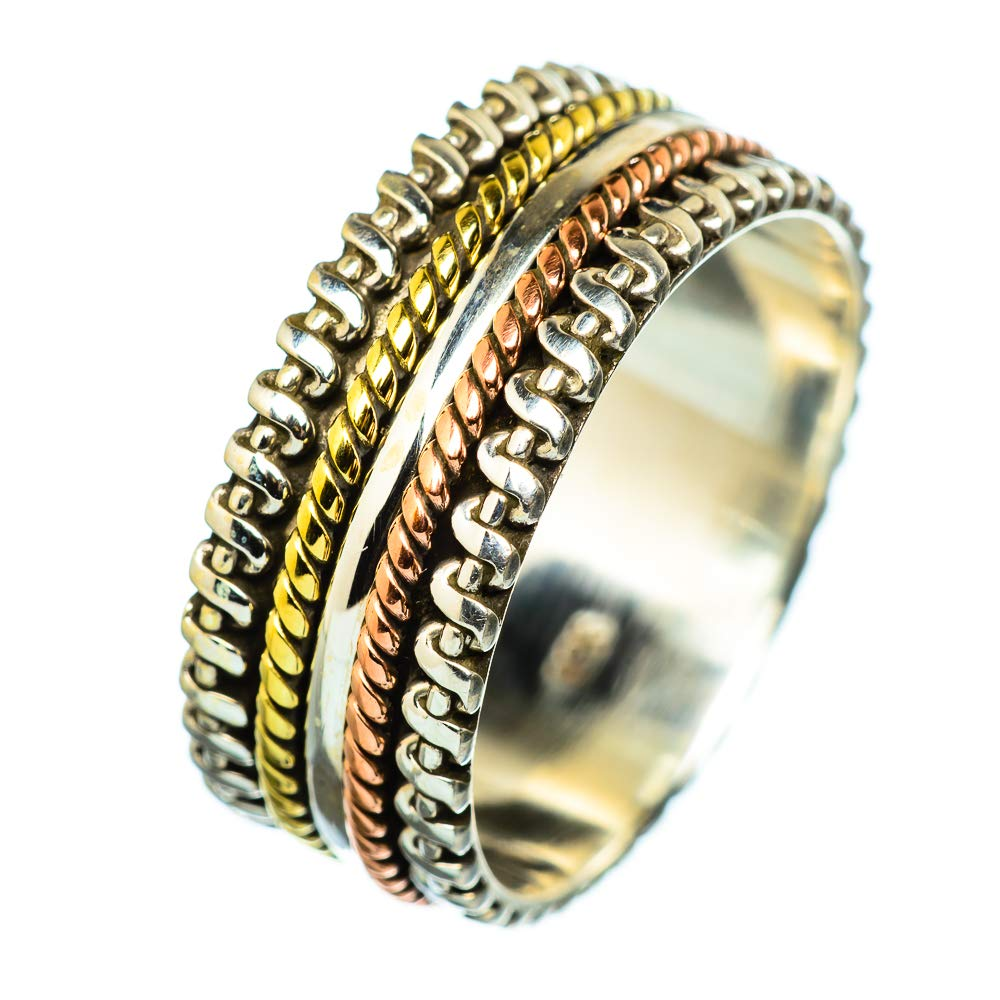 Vintage RING938778 925 Sterling Silver Bohemian Ana Silver Co Meditation Spinner Ring Size 10.75 - Handmade Jewelry