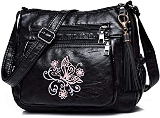 shoulder bag Women/' felt suede purse handbag tie dye with embroidered flowers and vintage pin. cross body bag messenger bag pocketbook