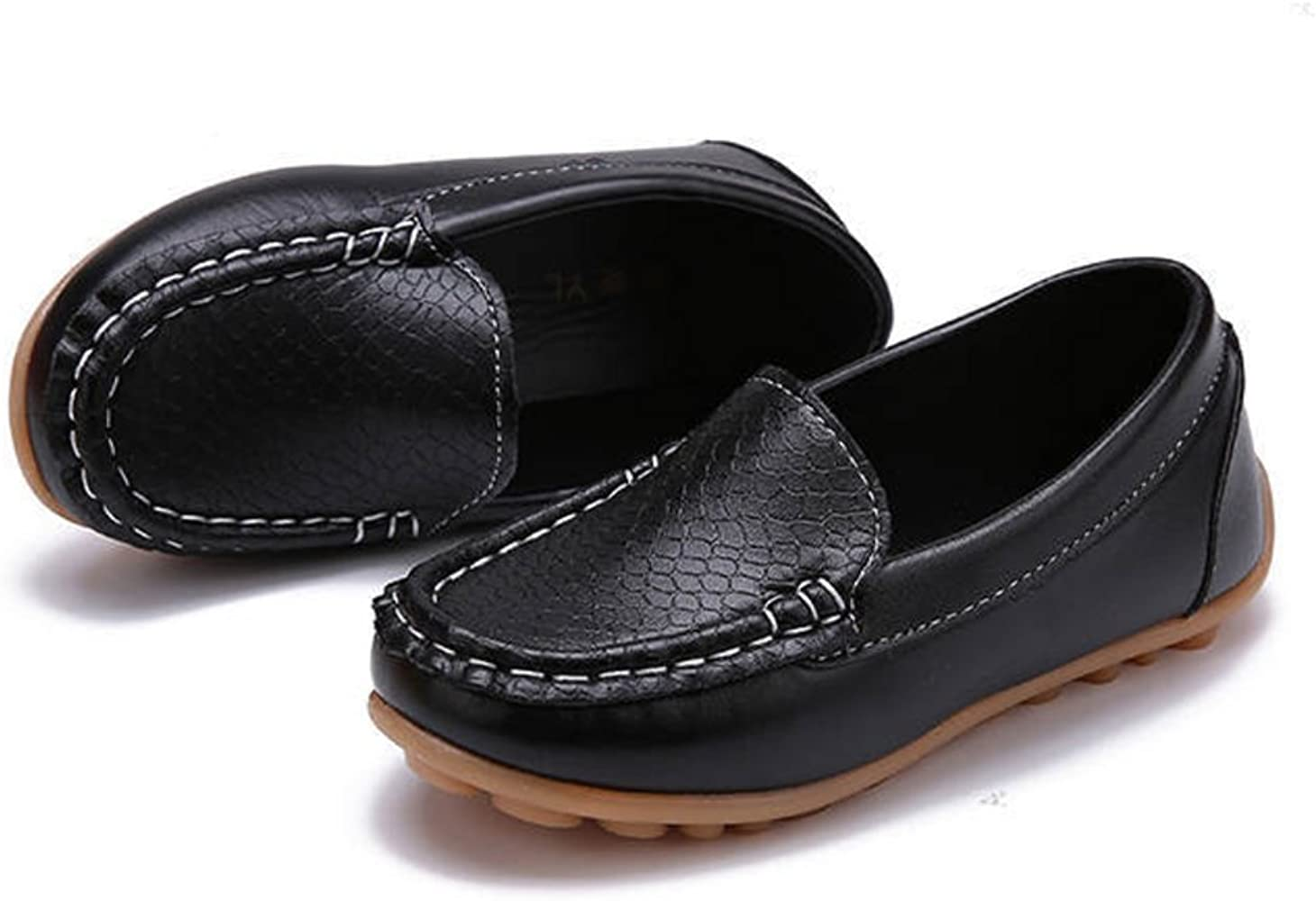 SOFMUO Toddler Boys Girls Suede Loafers Slip-On Boat Dress Flats Schooling Daily Casual Walking Shoes Toddler//Little Kid