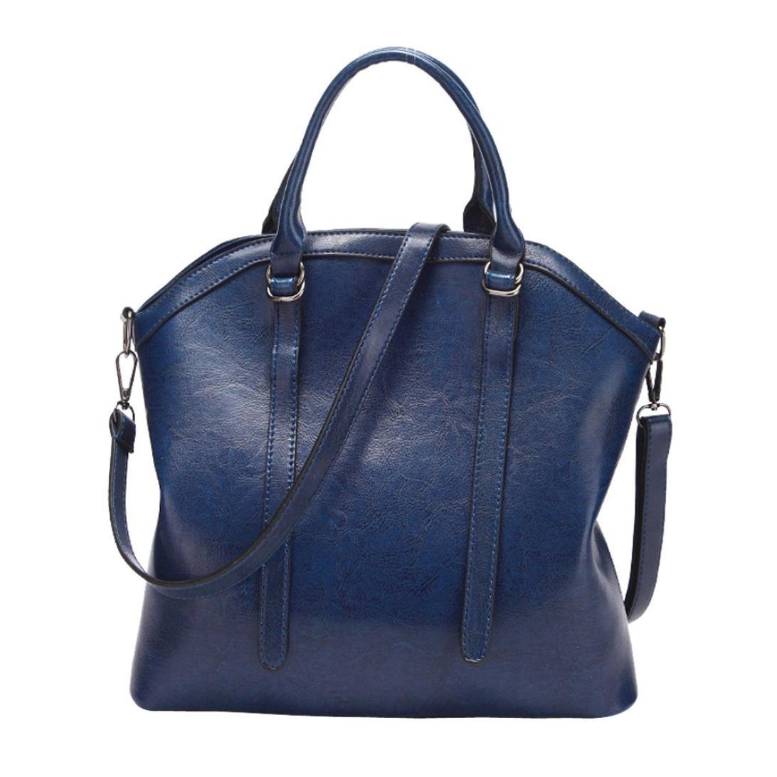 Bolso, Manadlian Bolso de cuero de las mujeres de moda Satchel Bolsas de tela Bolso mensajero de hombro (32cm(L)*14cm(W)*28cm(H), Caqui): Amazon.es: Hogar