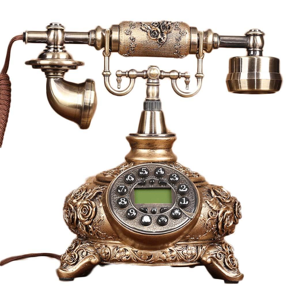 HY ブロンズの発信者番号ハンズフリー電話は、屋内オフィスコレクション固定電話 (色 : Bronze button dialing)  Bronze button dialing B07H6NHWRJ