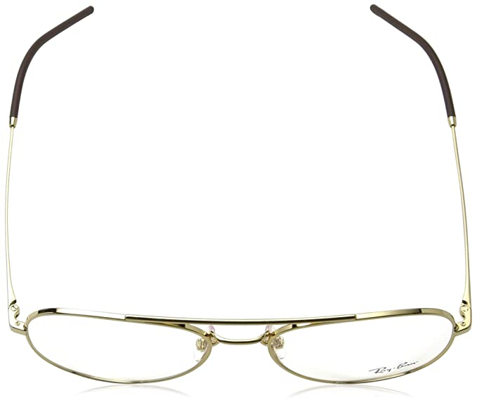 5a367e05c0 Amazon.com  Ray-Ban 0rx6413 No Polarization Aviator Prescription Eyewear  Frame Gold 56 mm  Clothing