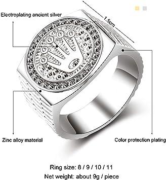 JewelryWe Bague pour Homme pour lanniversaire de Mariage Style Classique Le Meuille Cadeau pour Choisir