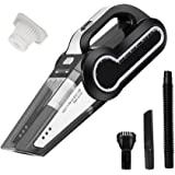 Cordless Vacuum, 12V 120W Portable Cordless Vacuum Cleaner, Wet & Dry Hand-held Car Vacuum, Dust Busters for Home or Car with 4KPa Suction, Pet Hair Eraser, LED Light by Dr. Auto