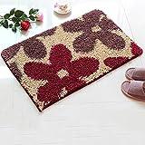 Plant flower folder cotton door mat Door carpet Doormat Bedroom Kitchen [hall] Sanitary absorbent pad Bathroom anti-slip mats-D 100x120cm(39x47inch)