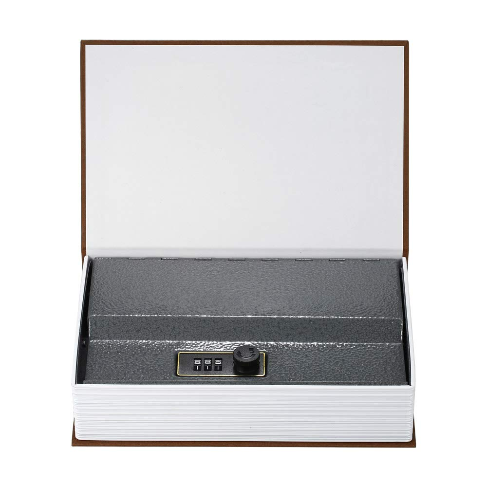 Hylotele Book Safe Security Hidden Safe Box with Combination Lock English Dictionary Diversion Book Safe Money Jewelry Passport Valuables Storage Box-Black Small