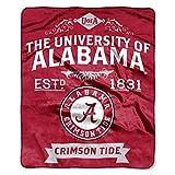 The Northwest Company NCAA Alabama Crimson Tide College Label Raschel Throw, 50 x 60-Inch