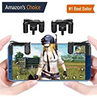 MobiExpress PUBG Trigger, Mobile Game Controller for Android and iPhone (Steel)