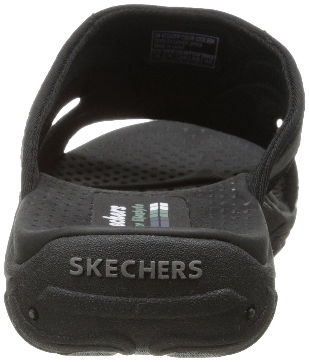 Skechers Reggae Slide, Sun Fest 47101 Damen Slide, Reggae Schwarz - schwarz - Größe: 42 1b05c4