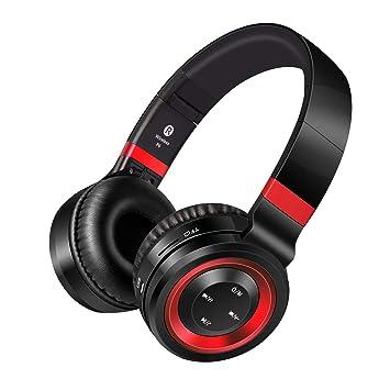 Cancelación de Ruido Auriculares Bluetooth,Pomisty Auriculares Inalámbricos Bluetooth con Micrófono Hi-Fi de Graves Profundos con Smartphones, Tabletas, ...
