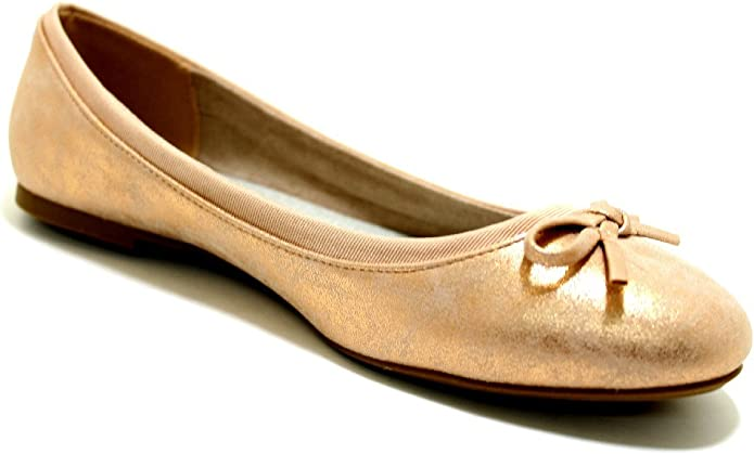 JANE KLAIN Ballerina Größe 42, Farbe: Rosegold: