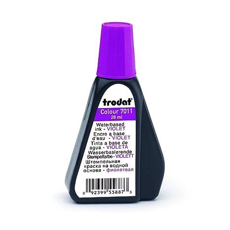 Trodat 7011 - Tinta para sellos (28 ml), color morado: Amazon.es ...