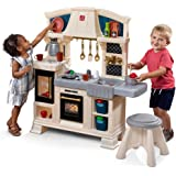 Step2 Classic Chic Play Kitchen | Toddler Kitchen Playset with Accessories & Stool (Amazon Exclusive)