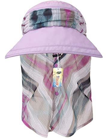 726a1ba1840 ICOLOR Sun Caps Flap Hats UV 360° Solar Protection UPF 50+ Sun Cap Shade