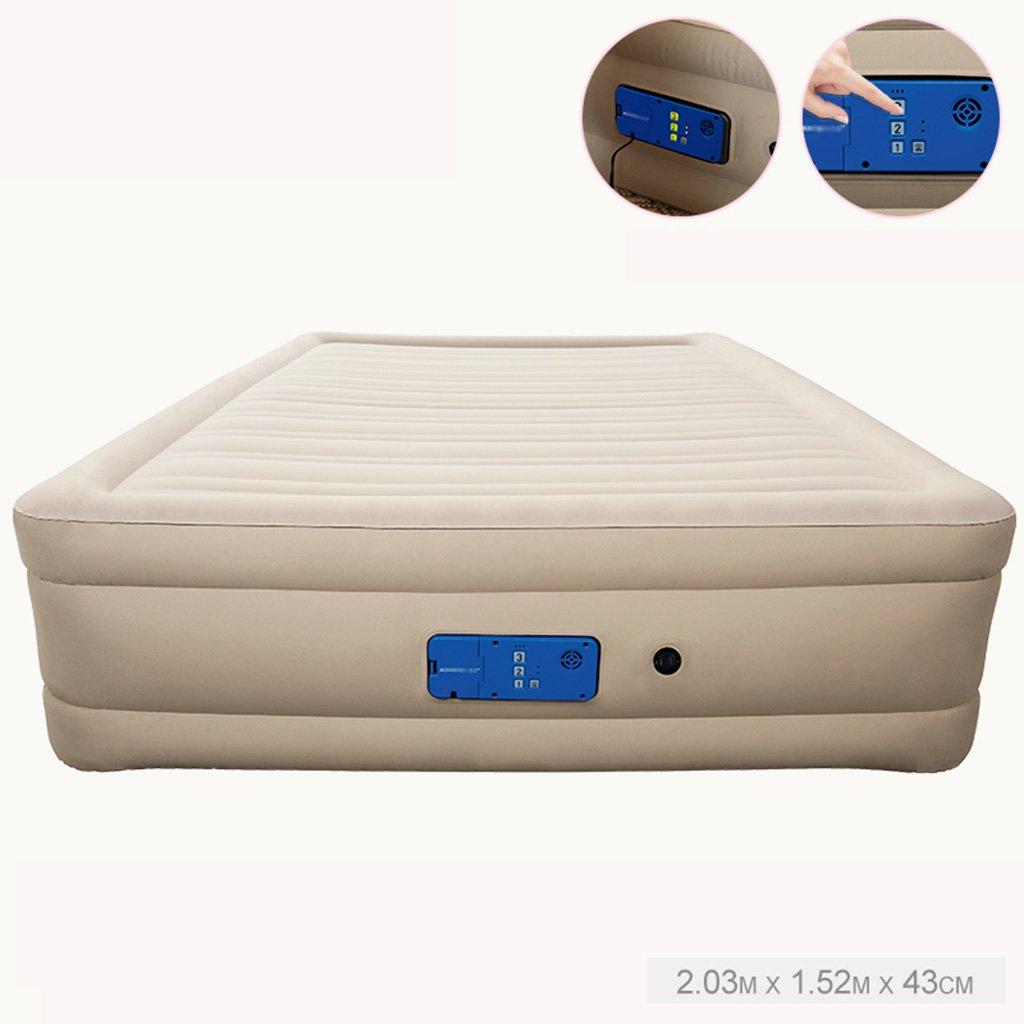 CQCDL Aufblasbare Betten Bett, aufblasbares Haushalts-Rückenlehne-Luftbett, das automatische Inflationsmatratze erhöht (Size : 203 * 152 * 43cm)