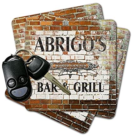 ABRIGOS Bar & Grill Brick Wall Coasters ...