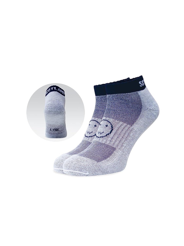 WackySox Scotland Navy Blue Trainer Sports Socks