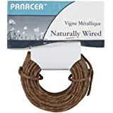 Darice Naturally Wrapped Vine Covered Craft Wire Rope with Rustic Feel for Wedding Crowns Woodland Crowns Head Wreaths Floral Arranging DIY Projects and Decorating 50 feet Brown