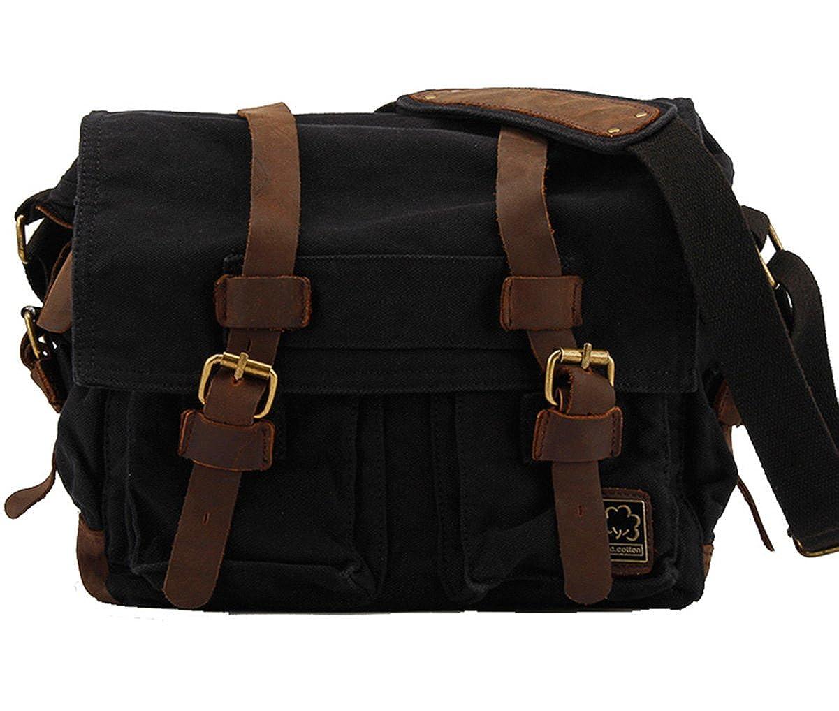 Genda 2Archer Retro Canvas Messenger Bag for Men and Women