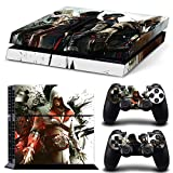 Cool Assassin's Creed Full Set Vinyl Skin Sticker for Sony Playstation 4 PS4 Console and 2 Controller Protective Cover Skins